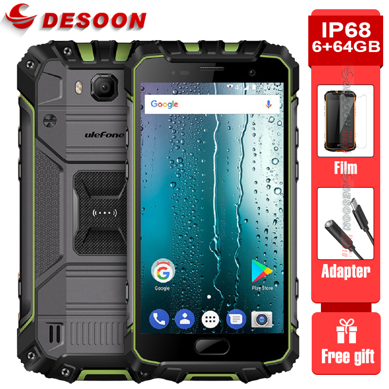 best service c69cf 0b058 US $269.99 |Ulefone Armor 2 IP68 Waterproof Mobile Phone 5.0 Inch FHD 6GB  RAM 64GB ROM Helio P25 Octa Core 2.6Ghz NFC 4700mAh Dustproof 4G-in Mobile  ...