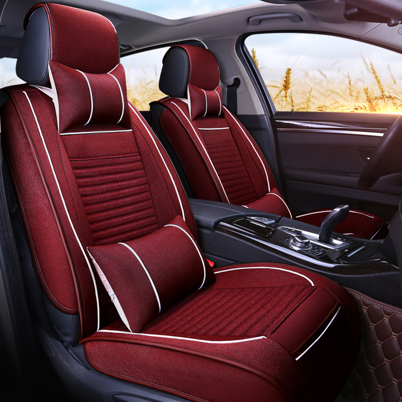 Car Seat Cover Universal Breathable Automobiles Seat Covers Four Seasons General Car Interior Accessories