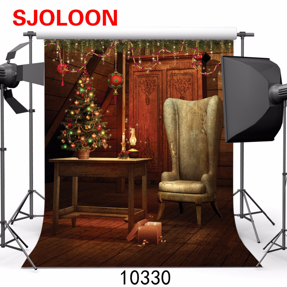 SJOLOON New Christmas backdrops photography  Photography-studio-backdrop Fond studio photo vinyle Backgrounds christmas  3X3m
