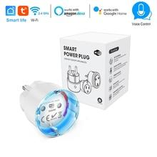 Smart Life EU Plug WiFi Control smart Socket Power Metering Timing switch 16A 3680W Voice Control work with Alexa Google IFTTT