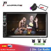 """AMPrime Autoradio 2din 7 """"tactile Autoradio Mirrorlink lecteur multimédia Bluetooth MP4 MP5 stéréo Audio Auto avec caméra de recul"""