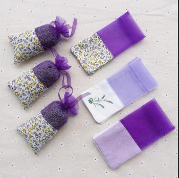 100 sztuk lawendy saszetka pusta torba doszywana siatka przezroczyste pościel kieszeń belkowa mały wzór kwiatowy suszony kwiat napełniania saszetka tanie i dobre opinie Lavender brown flower bag Przyprawy Farbric