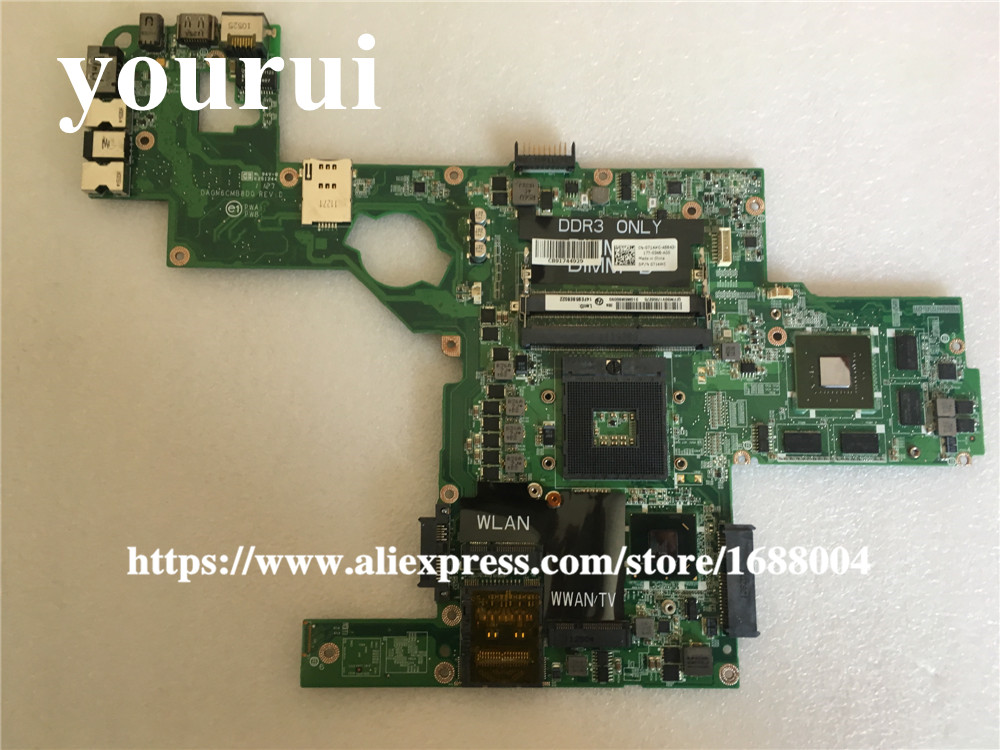 CN-0714WC 714WC 0714WC для DELL L502X материнских плат для ноутбука поддержка i7 процессор GT540 2 Гб 714WC DAGM6CMB8D0 HM67 100% тестирование
