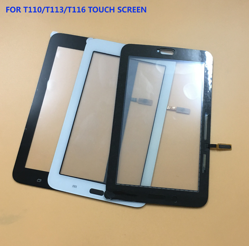 Black / White For Samsung Galaxy Tab 3 Lite 7.0 SM- T110 T111 T113 T116 Front Touch Screen Digitizer Panel Glass Sensor