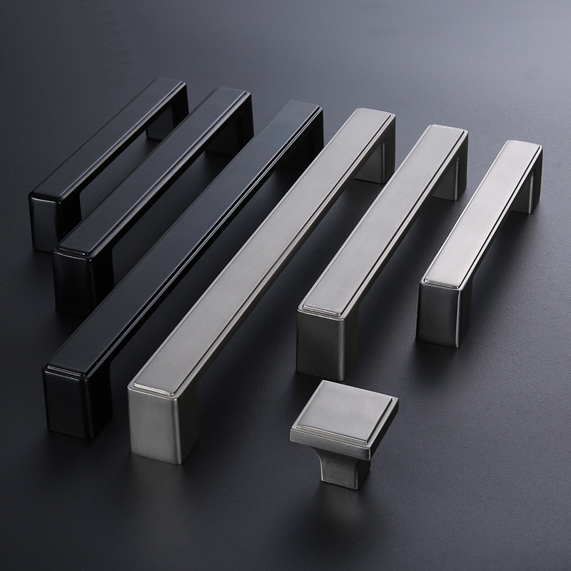 5 10 25 Cabinet Pull Square Drawer Handles Kitchen: Square Black Kitchen Cabinet Handles And Knob Wardrobe