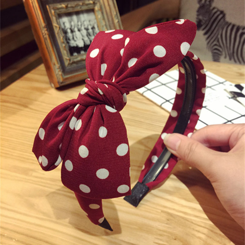 Haimeikang Cute Sweet Big Bowknot Ribbon Hair Accessory Headband Bow Head Band Hair Band Hairband Hair Accessory For Girls
