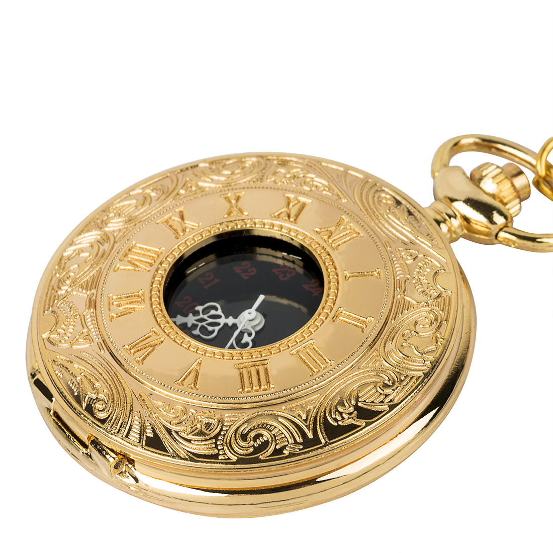 Vintage steampunk mechanical pocket watch men and women classic hollow digital jewelry pocket watch in Pocket Fob Watches from Watches