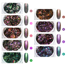 Chameleon Holographic Nail Glitter Powder Colorful Laser Bling Sequins Art Decorations Manicure Accessories