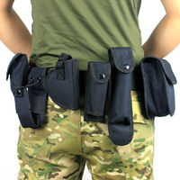 Tactical Security Police Guard Utility Kit Duty Belt Training Polices Guard Utility Kit Duty Belt with Pouch Set
