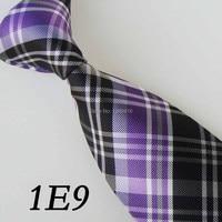 Men S Ties Border Lilac Black White Grid Stripe Necktie Gravata Good Ties For Men Groom