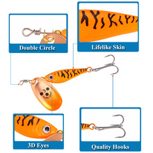 цена на Free Shipping 11g 15g 20g Spinner Spoon Lure Hard Bait Sequins Bass Treble Hook Balancers For Winter Fishing Tackle Accessories