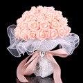 2016 New Artificial Bouquets De Casamento para a Noiva Mão Segurando Flores de Seda Buquê de Casamento Artesanal De Noiva Acessórios