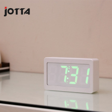 Seven color electronic LED alarm clock calendar digital full desk