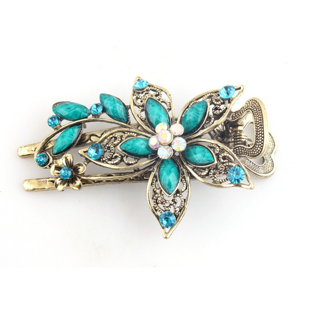 snowshine YLW Vintage Jewelry Crystal Hair Clips Hairpins For Hair Clip Tools freeshipping