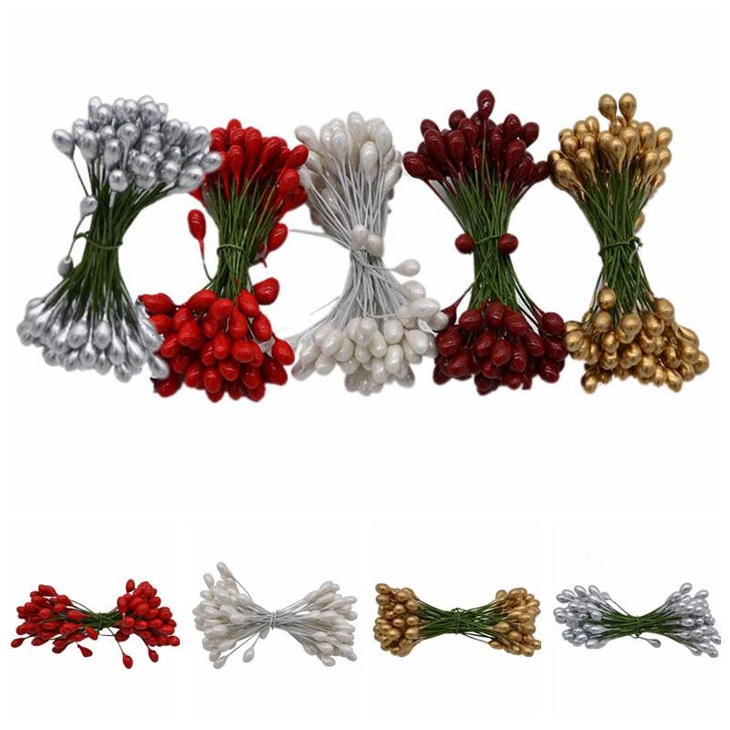 1.2m Pieces of 20 1.2m Beads String Pearls Cstrands Wedding Xmas Tree Cake Vase Table Decor White