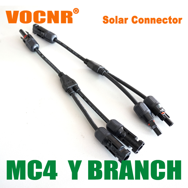20 Pairs/lot MC4 Y Branch Connector, PV Solar Y Branch Connector,Safe/Flexible/Reliable For PV Modules Connection