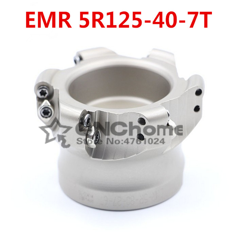 EMR5R 125-40-7T face mill milling cutter cnc milling tools for round inserts type R5 RPMW1003EMR5R 125-40-7T face mill milling cutter cnc milling tools for round inserts type R5 RPMW1003