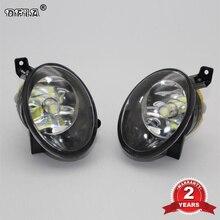 VW Touareg g에 대 한 2pcs 자동차 LED 빛 2011 2012 2013 2014 2015 자동차 스타일링 앞 범퍼 LED 자동차 안개 빛 LED 안개 램프