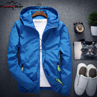 Speed Hiker 2017 Fashion Jacket Men Spring Autumn Solid Male Outside Jacket Coat Plus Size M