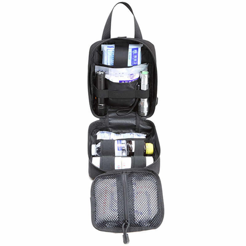 Travel First Aid Kit Car Medical Storage Bag Small Emergency Survival Medicine Organizer Case Outdoor Sports Tactical Home Nylon