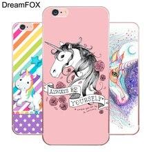 DREAMFOX L416 Hippo Rainbow Unicorn Horse Soft TPU Silicone  Case Cover For Apple iPhone 8 X 7 6 6S Plus 5 5S SE 5C 4 4S