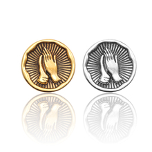 Fashion Men And Women Brooch Creative Accessories Personality Wild Alloy Plating Badges Exquisite Vintage Virgin Blessing Prayer