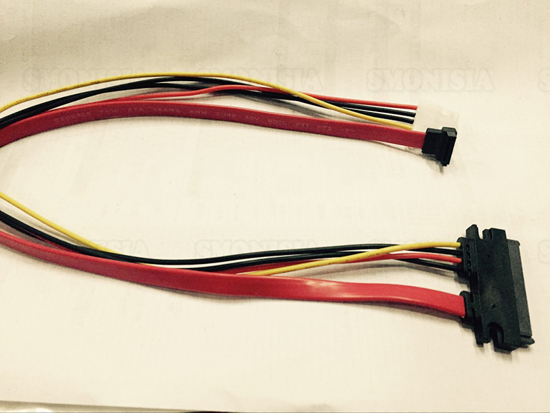 4 Pin IDE + SATA Desktop Computer Transfer Integrity Power Cable 7 +15P Red Hard Drive CD-ROM Data Power Supply Cable