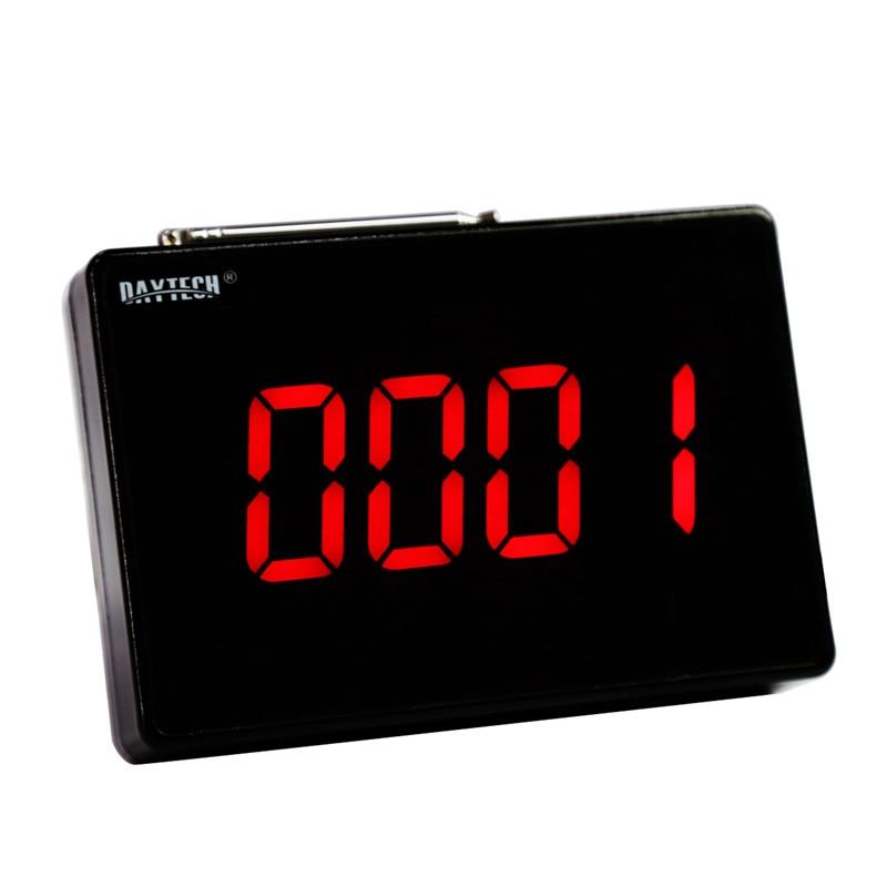 купить DAYTECH Wireless Calling system Coaster Pager Call Restaurant Service Guest Queue System 433MHZ LCD Display Receiver Host по цене 3344.8 рублей
