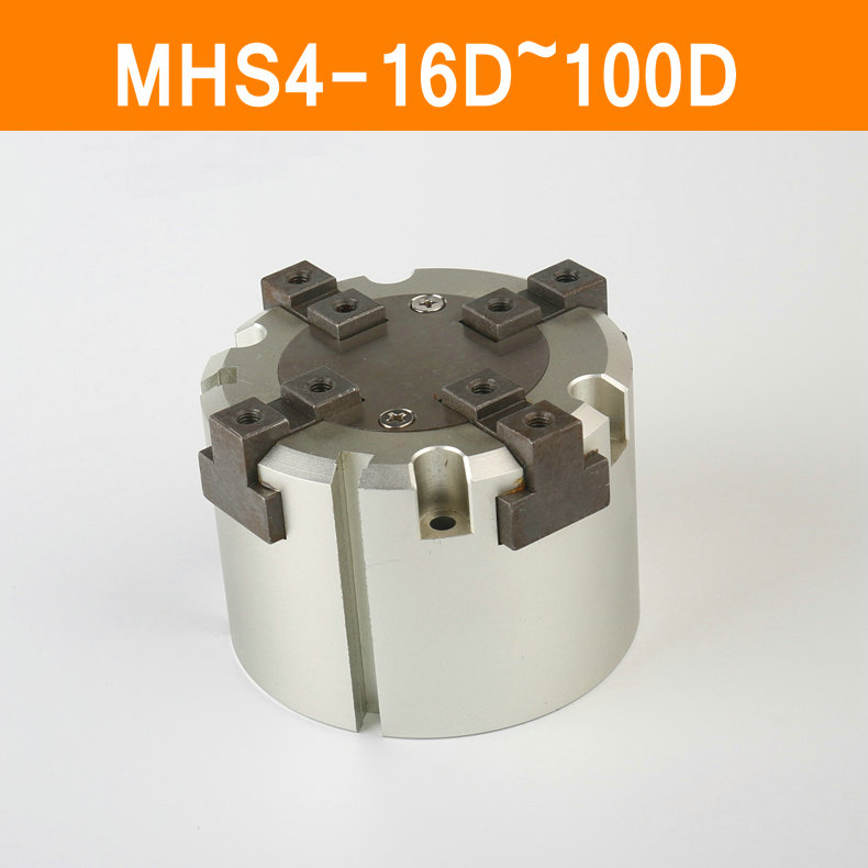 MHS4 16D 20D 25D 32D 40D 50D 63D 80D 100D Parallel Style Air Gripper 4 Finger Double Action Penumatic Cylinder Bore 16-100mm щебень фракция 20 40 мм 50 кг
