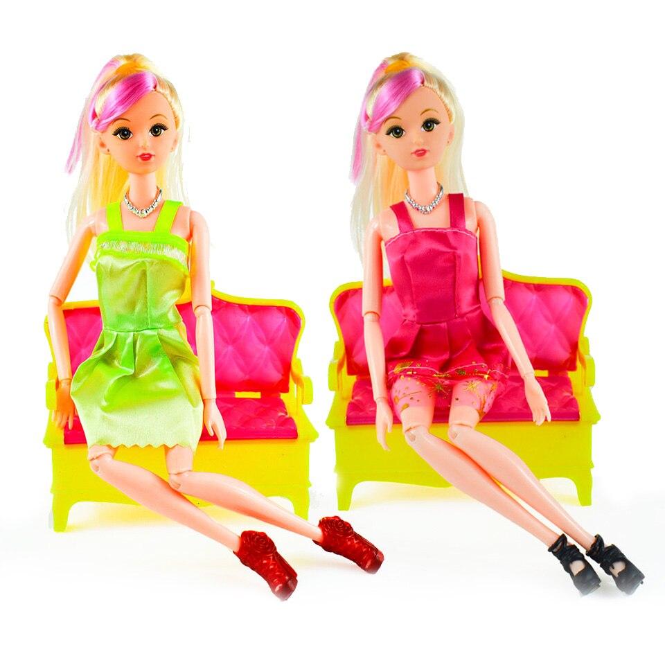 MrPomelo 12 Kleidung Fashion Mischart Party Kleid + 6 Para zubehör ...