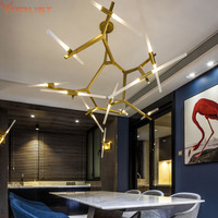 Modern Minimalist LED Pendant Light Art Decoration Branch Pendant Light Famous Italian Lamp Design Living Room
