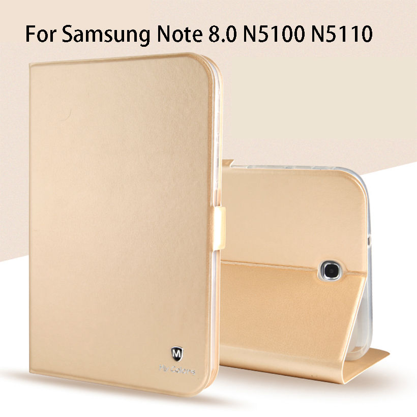 Luxury Silicone Leather Case For Samsung Galaxy Note 8.0 N5100 N5110 8.0 inch Case Cover Funda Tablet Flip Stand Shell Capa fashion protective aluminum cover silicone back case for samsung galaxy note 2 n7100 grey