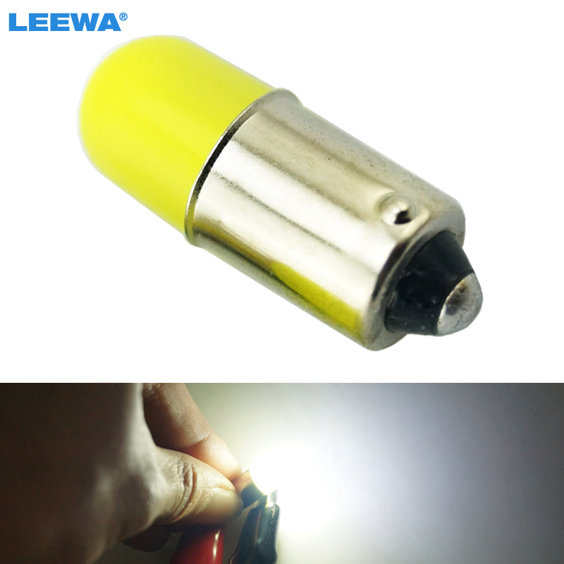 LEEWA 10pcs White Car Interior BA9S T4W Light Pipe Bulb Reading LED Light Lamp Bulb Styling Lamp DC12V #CA1033 ...