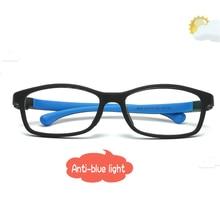 Дети анти голубой свет очки компьютерное излучение светофильтр Анти-усталость UV400 TR90 мальчиков девочек дети глаз защитные очки