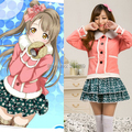 Anime LOVE LIVE Minami Kotori cosplay costume women lovely sweet winter clothing Love Live girls costumes daily casual clothes