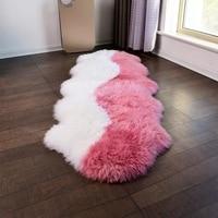 Уникальный дизайн розовый 2 P 60*180 см NewZealand коврик из овчины для прикроватный коврик светло фиолетовый овец меховой ковер