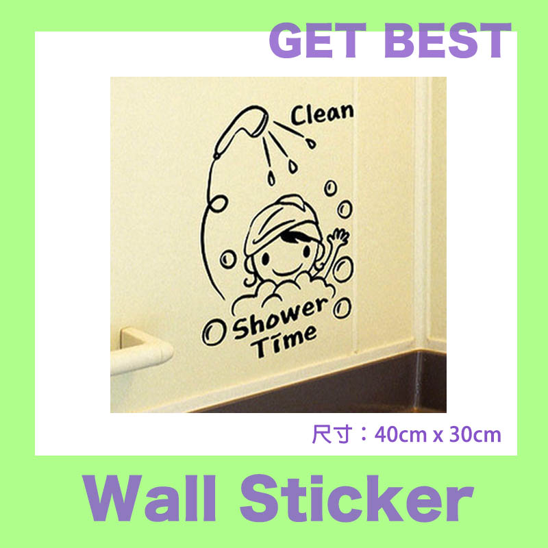 bambino cartone animato bagno piastrelle adesivi cartoon adesivi murali autoadesivi di vetro adesivi murali bagno