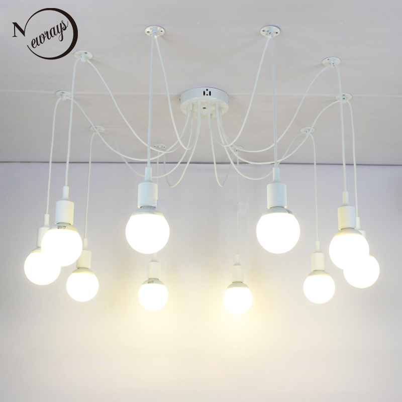 Modern big spider colorful silicone lampholder white pendant lamp loft led lights e27 pendant lights for