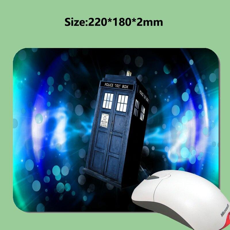 Sıcak Termal benzersiz dayanıklı fare tasarımcı Dr Who Tardis polis kiosklar yastık hiz oyun dizüstü bilgisayar dikdörtgen mouse pad mouse pad