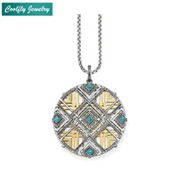 Africa Continent Ornaments Pendants Necklaces 2018 New Link Chain 925 Sterling Silver Glam Fashion Jewelry Gift For Women Bijoux