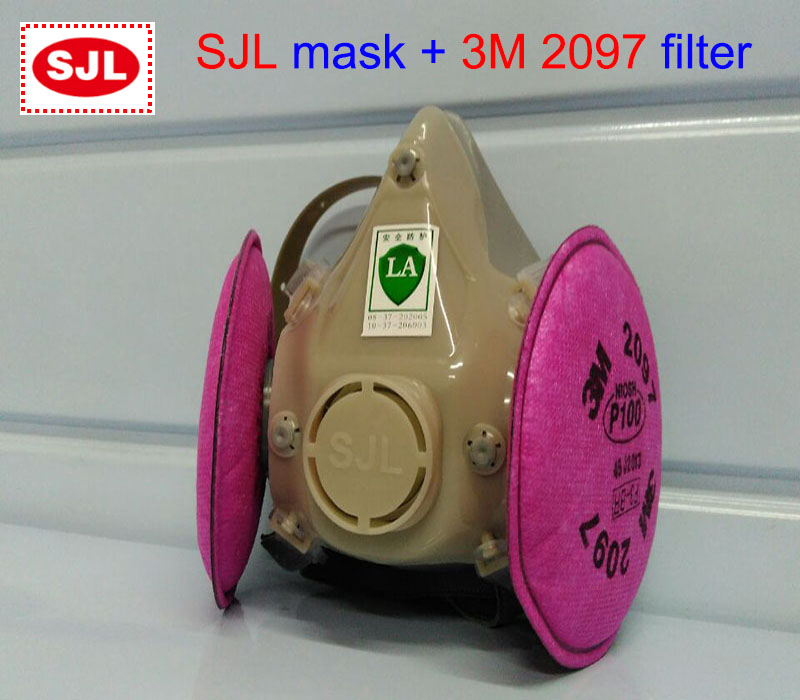SJL respirator mask + 3M 2097 filter protective mask against Painting Painting welding filter mask 3m 7502 mask 2097 filter genuine high quality respirator face mask painting graffiti polished respirator gas mask