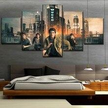 цены на 5 Panel Modern Canvas Printed Movie Maze Runner The Death Cure Picture Home Decorative Living Room Wall Art Painting Artwork  в интернет-магазинах