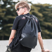 Drawstring Drawstring Men's Backpack Trend Fitness Sports Bag Backpack Bags Men's Storage Bag Customized LoGo