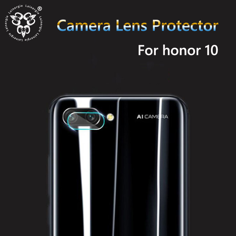 Lainergie 2PCS Back Rear Camera Lens Protector for Huawei Honor 10 2.5D Soft Tempered Glass Protective Film Cover