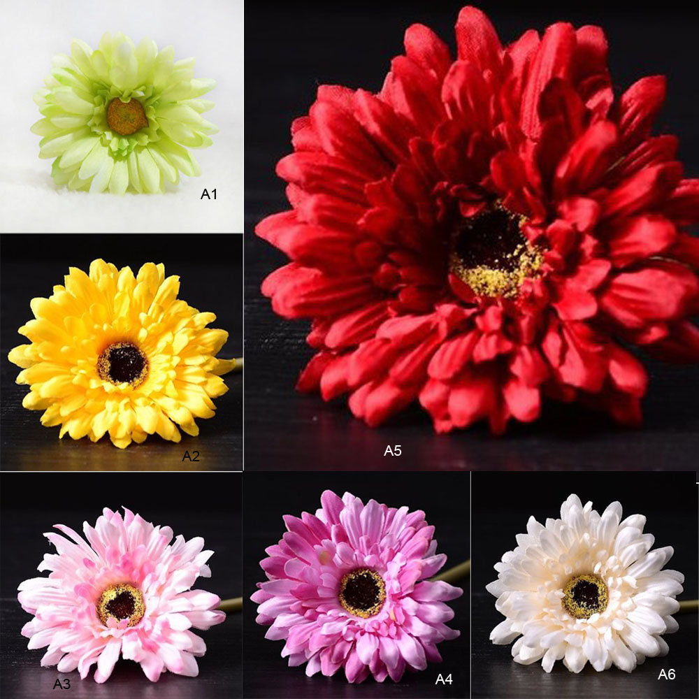 Artificial Silk Fake Gerbera Daisy Flower Plant Home Wedding Party