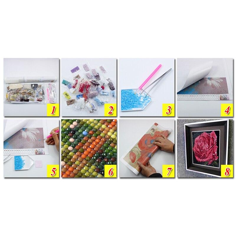 Sophie Beauty Home Diy 5D Diamond Cartoon Princess Partner Resin Cross stitch 3D Diamond Sewing Mosaic Home Wall Sticker Decorat