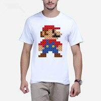 2017 Men Fashion Funny T Shirt Hipster Printed Tee Shirts Short Sleeve Tops Super Mario Periodic