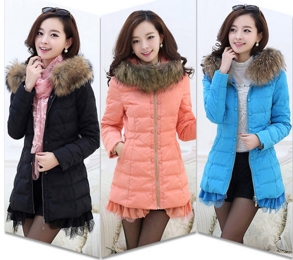 2014 Winter New Solid White Duck Down Parkas Women Fur Collar Hooded Long Coats Lace Hem Bow Slim Zipper Female Overcoats E835 шлифовальная машина bort bws 800
