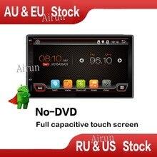 Dual core 7 PULGADAS 800*480 2 Din Android 4.4 Car Audio de Radio estéreo Con GPS TV 3G WiFi Navegación GPS Universal Cabeza unidad