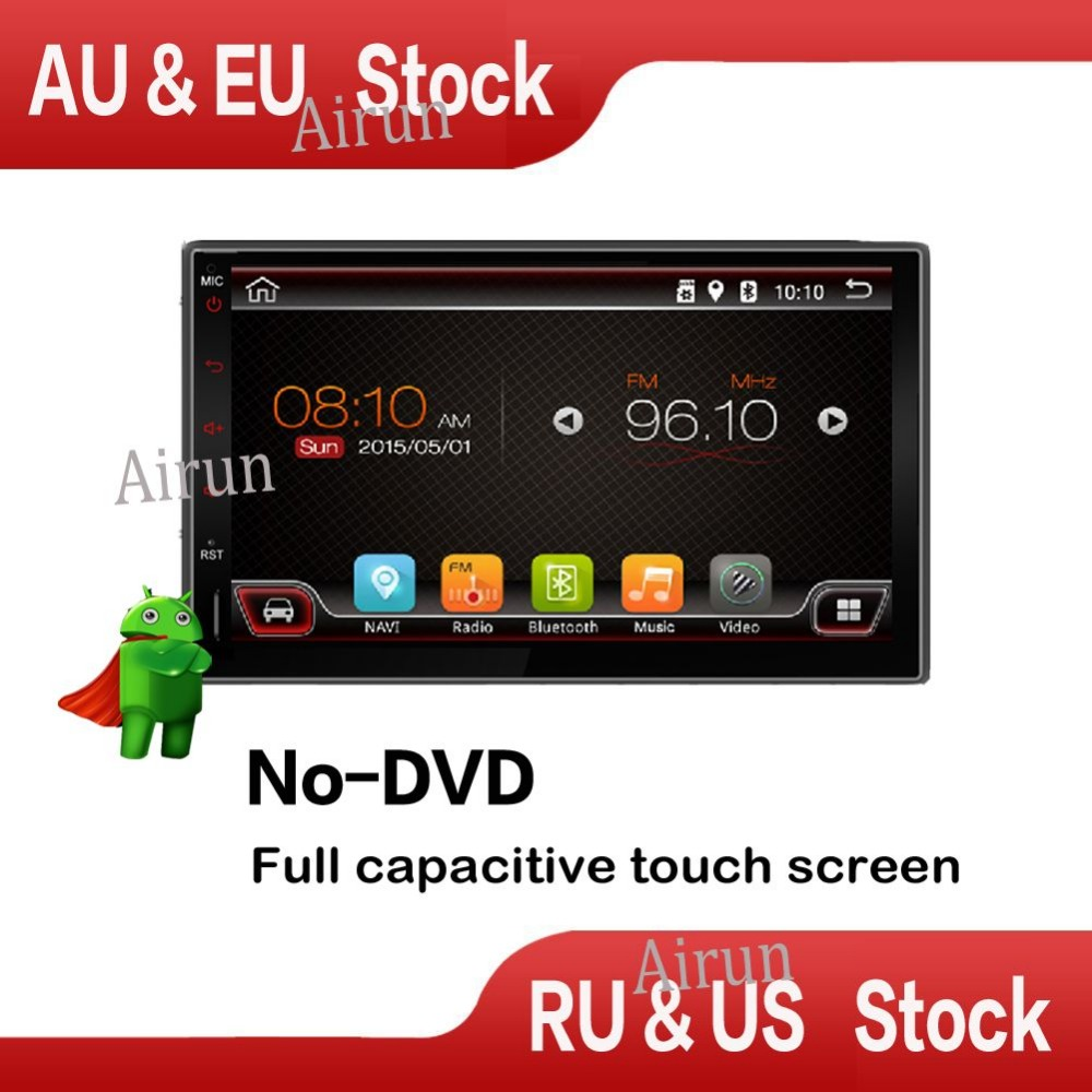 Dual Core 7 INCH 800 480 2 Din Android 4 4 Car Audio Stereo Radio With